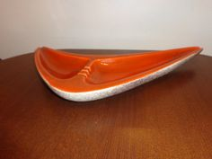 Large boomerang ceramic midcentury ashtray eames by Simplemiles, $44.00