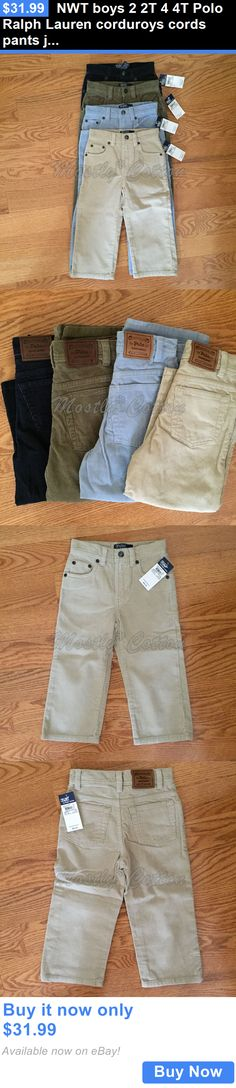 Baby Boys Clothing And Accessories: Nwt Boys 2 2T 4 4T Polo Ralph Lauren Corduroys Cords Pants Jeans Blue Green Tan BUY IT NOW ONLY: $31.99