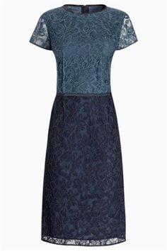 Buy Lace Shift Dress from the Next UK online shop Next Uk, Bardot, Wrap Style, Uk Online, Mother Of The Bride, Lace Dress, Two Piece Skirt Set, Short Sleeve Dresses, Formal Dresses