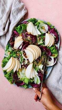 Asian Pear, Fennel Radicchio Salad with Spicy Citrus Dressing Planning Budget, Menu Planning, Fall Fruits, Salad Ingredients, Dressing Recipe, Meal Planner, Meals For The Week, Quick Easy Meals, Frugal Meals