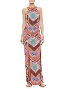 Printed Maxi Dress with High Slits by Mara Hoffman at Neiman Marcus.