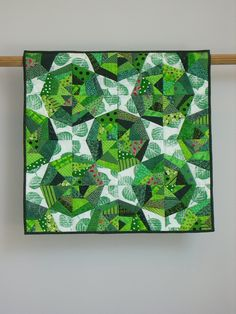 Green Webs wall quilt by Tina Curran.