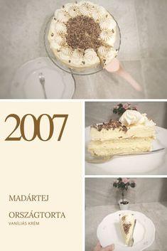 2007, Madártej torta, Országtorta – Tortaiskola Torte Cake, Hungarian Recipes, Mousse, Oatmeal, Sweets, Baking, Breakfast, Ethnic Recipes, Food