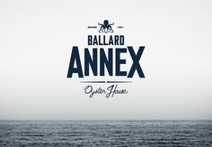 "The Ballard Annex is a seafood restaurant and oyster bar in Ballard, a historic Seattle neighborhood known for its nautical and fishing industries. The identity was inspired by traditional oyster houses and crab shacks of the American Northeast. The octopus ""Willy"" (named after Captain William R. Ballard, the neighborhood's namesake) sneakily clutches a bottle of vodka in his tentacles."