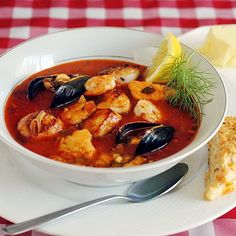 Manhattan Style Roasted Vegetable Chorizo and Seafood Chowder - This outstanding seafood chowder is a real indulgent, celebration meal. I like to serve it with some freshly baked Cheese and Herb Scones.