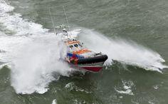 Joke Dijkstra oefent tijdens storm