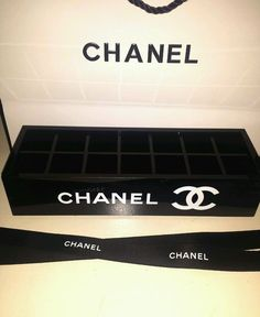 CHANEL VIP Gift Mascara / Lipstick Holder With Paper Bag