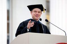 Matt Damon MIT speech