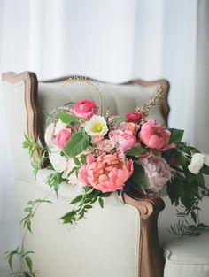 Poppy and peony bouquet