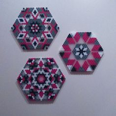 Coaster set hama beads by evakaroline84
