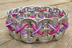 Great tween craft / wonder if this is the style of bracelet Ethan s saving all the tabs for??