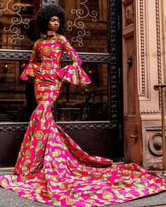 Encourage yourself, believe in yourself and love yourself. Every black women is a queen. African Prom Dresses, African Fashion Dresses, African Attire, African Wear, African Dress, African Clothes, African Style, African Inspired Fashion, African Print Fashion