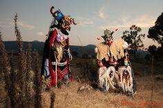 artisanos-de-michoacan: An other look at Michoacan…los Diablos de Tocuaro, Michoacan, Mexico (Ceremonial masks and costumes by Felipe Horta) Photography© Florence Leyret Jeune)