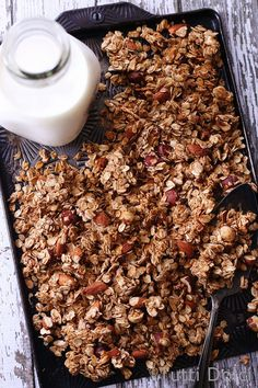 Rituals. Do you have any rituals or routines built into your life? Homemade granola is my ritual, something I bake weekly without exception. The recipe is memorized, permanently etched into my mind...