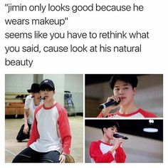 And so what if he only looks good with makeup? Inner beauty always overpowers external beauty.