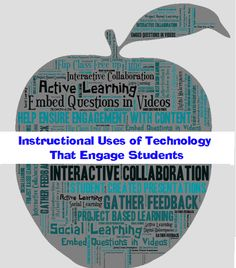 10 of the Most Engaging Uses of Instructional Technology (with Dozens of Resources and Tools) by Kelly Walsh on September 2014 Start the New School Year With More Fun, Engaging Techniques and Resou. Teaching Technology, Technology Tools, Technology Integration, Educational Technology, Instructional Technology, Instructional Strategies, Instructional Design, 21st Century Learning, Apps