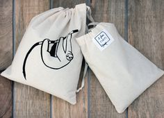 Cotton Bag, Sloth, Boutique Etsy, Ajouter, Voici, Printed Cotton, Bags, Pouch, Sloth Animal