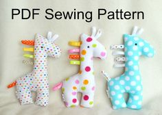 Giraffe Soft Toy PDF Sewing Pattern and Tutorial DIY Giraffe Softie Pattern Easy Stuffed Giraffe Sewing Pattern Giraffes Sewing pattern Sewing Toys, Sewing Crafts, Giraffe Toy, Stuffed Giraffe, Dinosaur Stuffed Animal, Diy Teddy Bear, Softie Pattern, Baby Sewing Projects, Fabric Toys