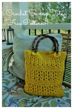 crochet sunny tote - free pattern