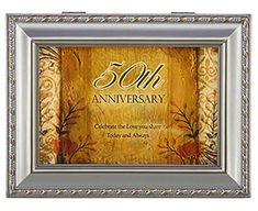 Music Box—50Th Anniversary With Ornate Champaign Silver Finish—Amazing Grace
