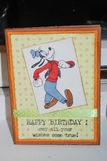 A Goofy birthdaycard with @KinderStampO sentiments. So a happy birthday it is =)