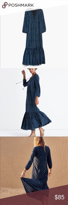Madewell Silk Medallion dotted maxi dress spring17 This amazing silk lined dress is the perfect all season dress. It's 100% silk with the dotted medallion print and has an attached lined slip. This dress sold out almost instantly and has been seen all over pintrest and all the fashion blogs. It's sized at a 4 but runs large for an oversized fit so could work for a 6 as well. It's in perfect condition. ⭐️all lowerball offers will be declined⭐️ Madewell Dresses Maxi