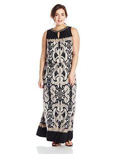 London Times Women's Plus-Size Chain Neck Blouson Maxi, Black/Taupe, 14 London Times http://www.amazon.com/dp/B00W4EW8P0/ref=cm_sw_r_pi_dp_qyxhwb08MCGPV