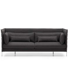 The Alcove Three-Seater Sofa is a spacious and comfortable seating system designed by Ronan & Erwan Bouroullec for Vitra. Deco Furniture, Sofa Furniture, Furniture Design, Canapé Design, Sofa Design, Interior Design, Vitra Sofa, Sofas, Armchairs