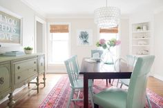 Same dining room. I would go with less rustic elements (and matching dining room chairs) + remove the corner built-in, but a nice redo. The current house belonging to the couple of Young House Love. Young House Love, Style At Home, Up House, Hill House, Home Fashion, Furniture Makeover, Room Inspiration, Sweet Home, New Homes