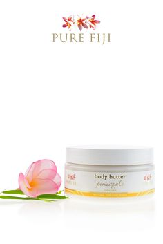 PINEAPPLE Pure Fiji Body Butter | This super moisturizing cream will instantly revive dry skin. A unique blend of exotic nut extracts rapidly hydrates skin and locks in the moisture to keep your skin perfectly hydrated and nourished. Milk proteins setting in motion firming processes to reduce the appearance of fine lines - while soy and passionflower gently soothe and calm stressed skin. SHOP Natural Skin Care Products  https://us.purefiji.com/us-pf-bb.html?attribs=Body | Coconut Oil