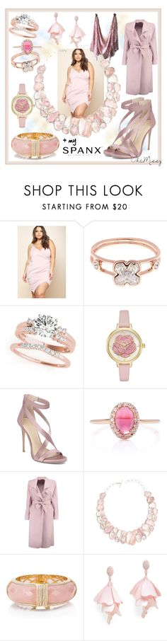 """""""Blushing Babe. Ok, you got me convinced. I can rock this size. Thank you, finally, fashion."""" by caroline-buster-brown ❤ liked on Polyvore featuring Karen Millen, Kate Spade, Imagine by Vince Camuto, Marlo Laz, Boohoo, Poppy Jewellery, Oscar de la Renta Pink Label and SPANX"""