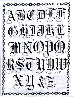 Gotisches Alphabet, Gothic Alphabet, Tattoo Fonts Alphabet, Calligraphy Fonts Alphabet, Graffiti Alphabet, Fancy Fonts Alphabet, Lettering Styles Alphabet, Arabic Calligraphy, Tattoo Lettering Styles