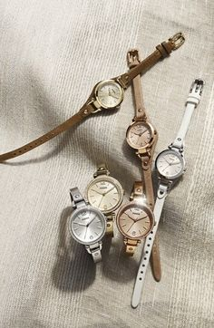 Fossil Small Georgia Leather Strap Watch, 26mm | Nordstrom