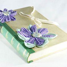 """Ringbuch """"Jan Murken"""" www.yournique.de #yournique #Ringbuch #Ringkissen #Ringschale #Kanzashi #Handmade #Hochzeit #Stoffblüte #Stoffblume"""