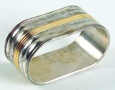 Christofle France Aria Gold Silverplate Napkin Ring