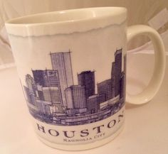 STARBUCKS 2006 HOUSTON MAGNOLIA CITY 18 oz COFFEE CUP MUG TX ARCHITECT SERIES  #StarbucksCoffee