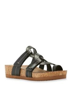 Walking Cradles Black Panama Sandal