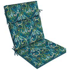 Garden Treasures Damask Cushion for High-Back Chair