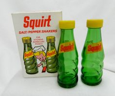 Vintage new in box glass Squirt pop bottle salt by 3SisterzJewelry, $10.00