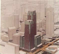 A long time coming: Dallas Arts District office, residential project close to a start | 1984 Rendering