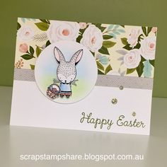 Scrap Stamp Share: Easter Bunny- CTMH Stamp of the Month Australasian Blog Hop
