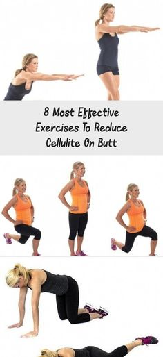 8 Most Effective Exercises to Reduce Cellulite on Butt - Just Healthy Way #ExerciseInspiration #ExerciseForLoveHandles #ExerciseStomach #ExerciseLegs #ExerciseGif #HowMuchIsCelluliteRemoval #SurgicalCelluliteRemoval #CelluliteWrap Cellulite Wrap, Causes Of Cellulite, Cellulite Exercises, Cellulite Remedies, Reduce Cellulite, Anti Cellulite, Do Exercise, Easy Workouts, Burn Calories