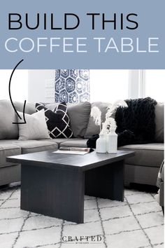 Want make update your modern living room with a sleek wood coffee table? These DIY coffee table plans will show you how to turn $30 of wood into a modern coffee table in just a few hours. Diy Coffee Table Plans, Cool Coffee Tables, Modern Coffee Tables, Diy Furniture Tutorials, Diy Furniture Plans, Diy Living Room Furniture, Living Room Storage, Farmhouse Dining Room Table, Furniture Inspiration