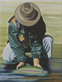 Buckingham's Copper John Cabin Decor fishing painting