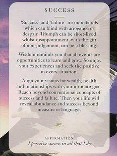 31.10.2016 - Today's Wisdom Card - Succes - Percep Succesul in tot ce fac !