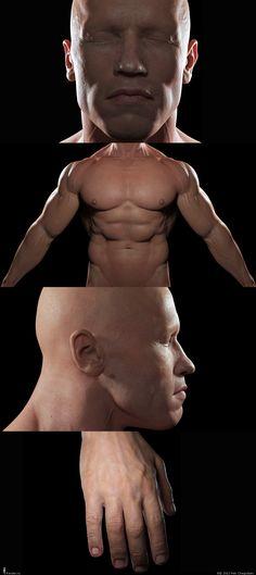 RENDERU.COM - People - Terminator's Body