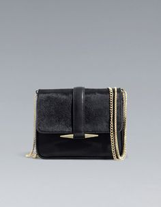 MESSENGER BAG WITH FUR FOLDOVER FLAP - Handbags - Woman - ZARA United States