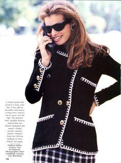 US Vogue October 1989 Couture Report Photo Peter Lindbergh & Guy Marineau (Runway) Editor Carlyne Cerf de Dudzeele Model Cordula Reyer Hair Donald Makeup Stéphane Marais