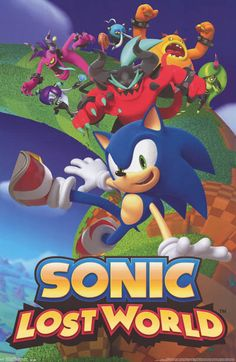 Sonic the Hedgehog Lost World Sega Video Game Poster 23x35