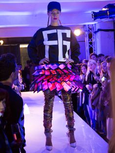 Nokia makes a skirt from 80 Lumia smartphones.